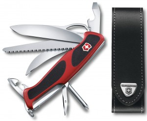zestaw scyzoryk Victorinox 0.9683.MC RangerGrip 58 Hunter plus etui 4.0506.L